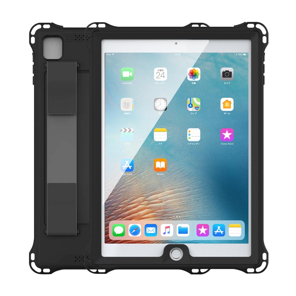 iPad防水ケース 防塵 耐衝撃ケース ブラック iPad Air iPad Air2 iPad Pro 9.7inch iPad 2017 9.7inch iPad 2018 9.7inch タブレットケース