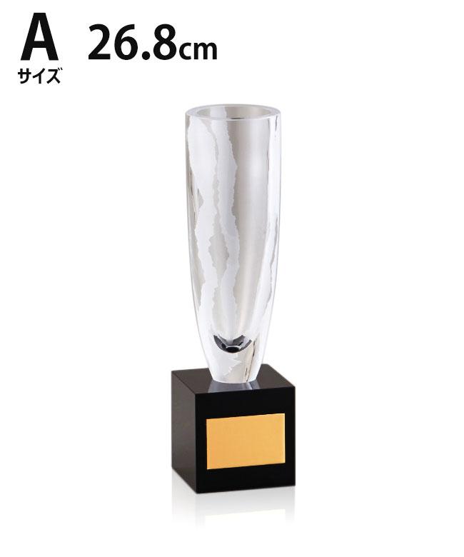 ガラス優勝カップ 26.8cm 3サイズ 紅白リボン付 名入れ 持ち回り レプリカ ゴルフ 野球 サッカー 表彰 賞品 大会 コンペ イベント《送料無料・文字入無料》【YYC-02940 Aサイズ】高さ:26.8cm 口径:6.5cm MG 23