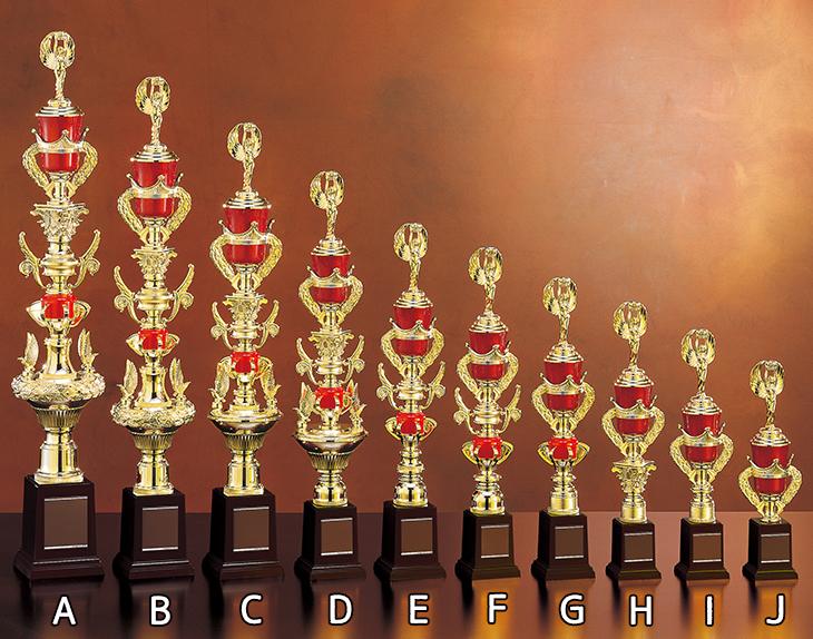 トロフィー 1本柱 55cm 10サイズ 88種目 人形付 紅白リボン付 名入れ 表彰 記念品 賞品 大会 コンペ イベント 優勝トロフィー トロフィ ゴルフ 野球 サッカー 赤《文字入無料》【YTR-02380 Dサイズ】高さ:55cm #B 13