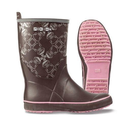 芬兰,姆明女士橡胶靴猫在靴子 Nokian 鞋类姆明合作