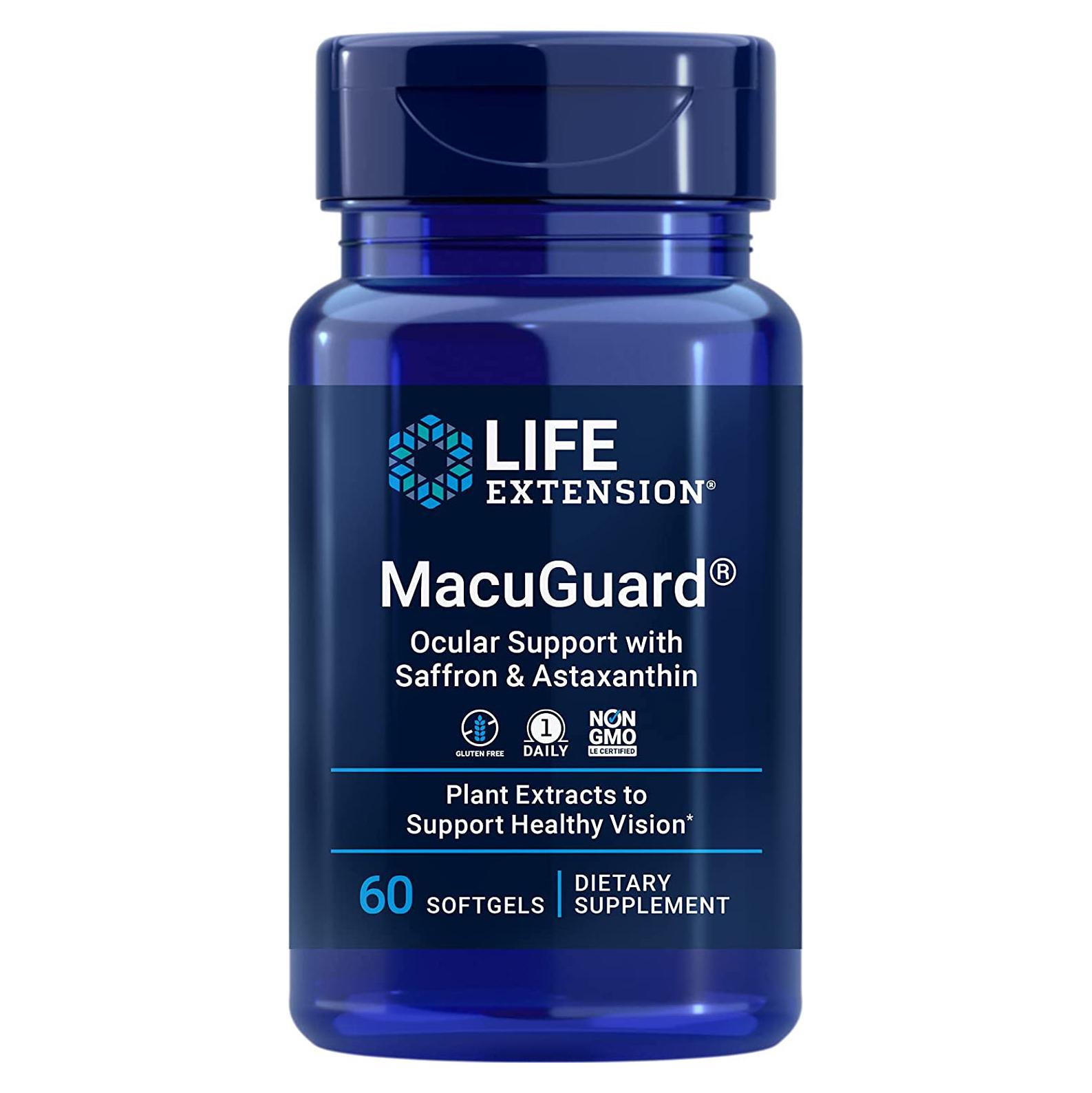 Life Extension ライフエクステンション MacuGuard 眼球サポート アスタキサンチン入り サフラン 買い物 ついに入荷 60ソフトジェル + 海外直送品
