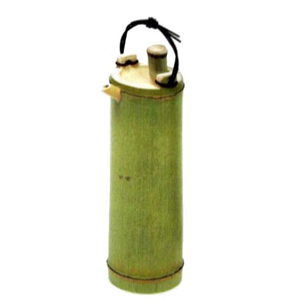 お料理を引き立てる竹製・木製の食器 竹食器 青竹 酒器カズラ手 大 25-6
