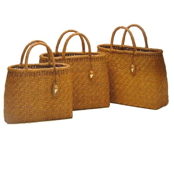 やまぶどう手提げバッグ(中) 竹製バッグ 158-2