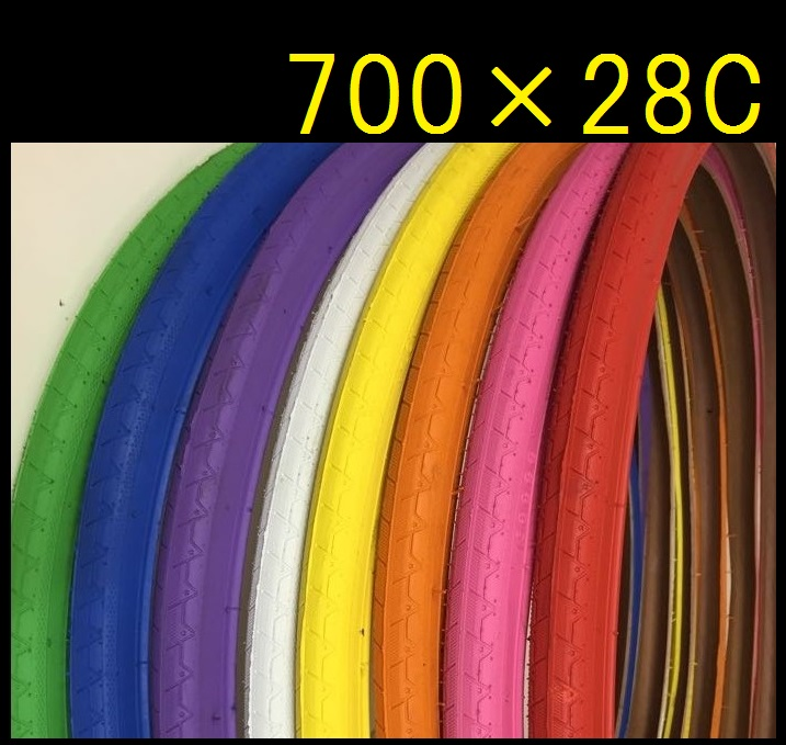 Bicycle tire 700 x 28 C color tires [/ 27 inches road bike rim/tube / color / light / Street ride / bike / parts/fixie/fixed gear