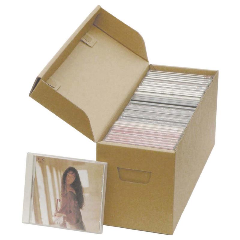 ダンボール 段ボール「タフボックス CD38枚収納箱(395×130×150mm) 20枚 ※※代引不可※※」茶色 クラフト 引越し 引越 荷造り ダンボール箱 段ボール箱 収納 発送 梱包 新生活 片付け用 保管 CD DVD CDケース