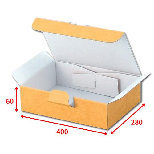 送料無料・組立式ギフト箱400×280×60mm「100枚」化粧箱 ダンボール 包装 ラッピング 梱包※代引不可※ ※個人様宛配送不可※