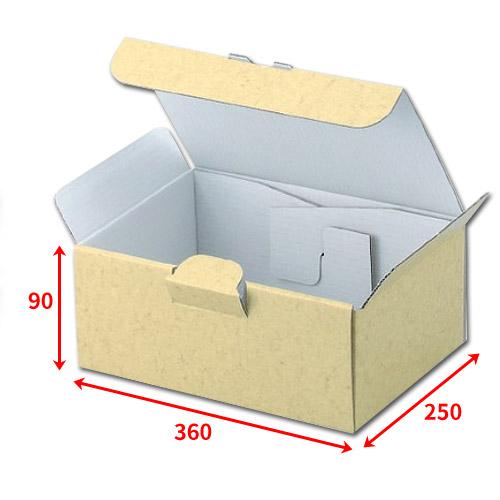 ギフトに最適な組立式ダンボール箱 送料無料・組立式ギフト箱360×250×90mm「50枚」化粧箱 ダンボール 包装 ラッピング 梱包※代引不可※ ※個人様宛配送不可※