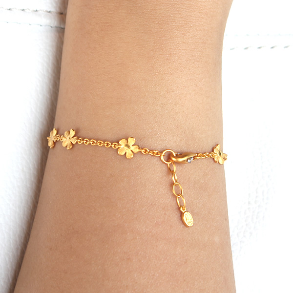 Pure Gold Bracelet For The Woman Flower Primagold 24k K24 Jewelry Accessories Brand
