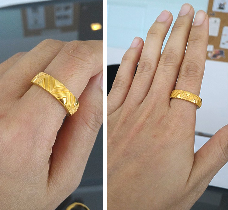 Prima Gold Japan: PRIMAGOLD geometry zigzag design 24k gold pure gold jewelry | Rakuten Global ... - photo#14