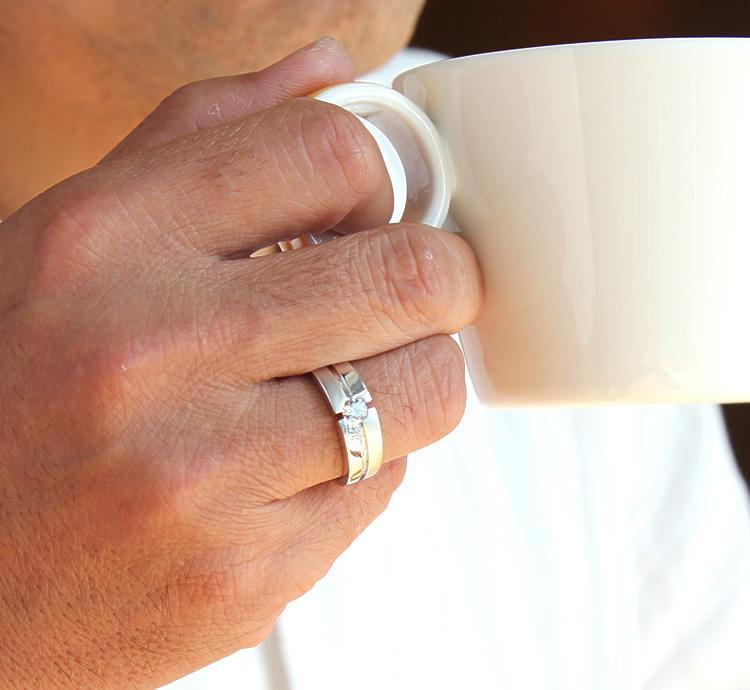 Prima Gold Japan Rakuten Global Market K18WG Mens diamond ring