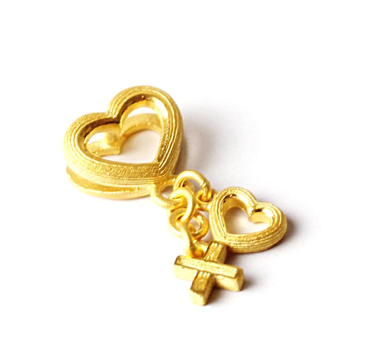 Prima Gold Japan: PRIMAGOLD heart small positive 24k gold pure gold jewelry | Rakuten Global Market - photo#13