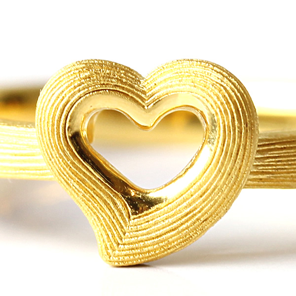 Prima Gold Japan: PRIMAGOLD open heart 24k gold [lady's pure gold jewelry for the woman ... - photo#35