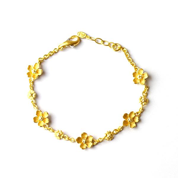 Prima Gold Japan Pure Gold Bracelet Flower Chain Lady S Woman