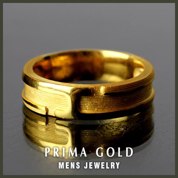 24K Mens 純金リング【指輪】【主張のあるテクスチャ】24金 純金 K24YG【メンズ 男性用 ゴールド】PRIMAGOLD プリマゴールド【送料無料】【ギフト 贈り物】ジュエリーランキング1位獲得