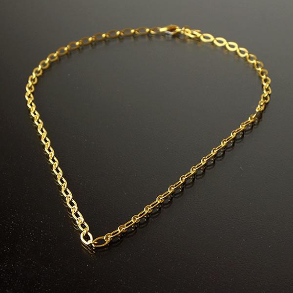68f27ddad08 ... Pure gold men necklace adzuki bean chain adzuki bean chain man yellow  gold gift present birthday ...