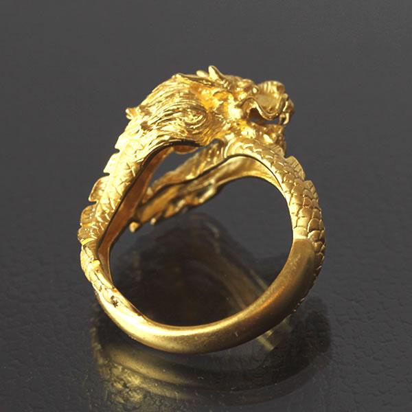純金 ドラゴン 龍 リング 指輪 メンズ 男性 イエローゴールド ギフト プレゼント 誕生日 記念日 贈物 24金 ジュエリー アクセサリー ブランド 地金 品質保証 人気 プリマゴールド PRIMAGOLD K24