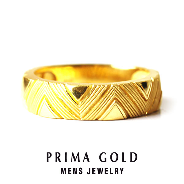 Pure Gold Geometry Ring Men Man Yellow Gift Present Birthday Memorial Day 24 Karat Jewelry Accessories Brand Metal Guarantee Of