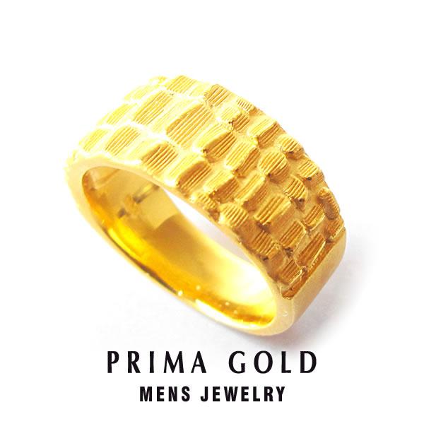 純金 24K クロコダイル リング 指輪 メンズ 男性 イエローゴールド プレゼント 誕生日 記念日 贈物 24金 ジュエリー アクセサリー ブランド プリマゴールド PRIMAゴールド K24 送料無料