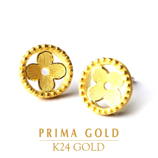 826e8979565fe It is recommended to pure gold pierced earrings K24 24-karat gold pure gold  yellow gold PRIMAGOLD prima ballerina gold gift, a present