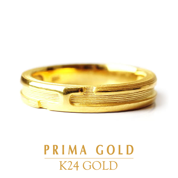 68ebd13cd Pure gold ring ring Lady's woman yellow gold gift present birthday present  24-karat gold ...