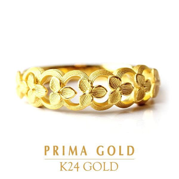 64010bdaf6543 Pure gold ring floret ring Lady's woman yellow gold gift present birthday  present 24-karat gold jewelry accessories brand metal guarantee of quality  ...