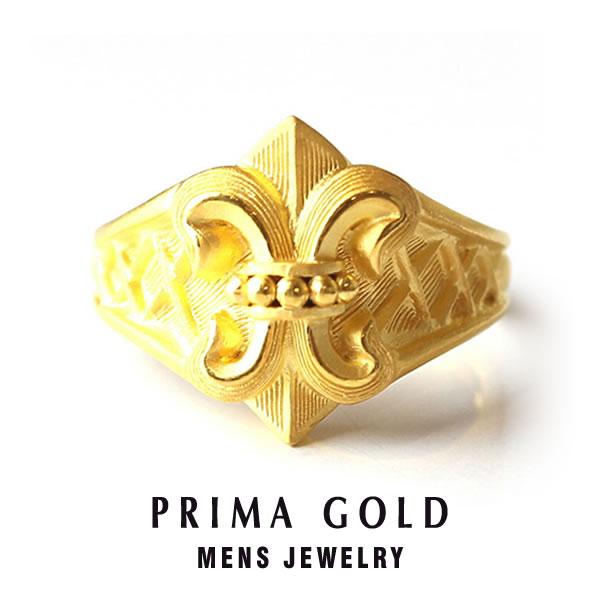 純金 中世ヨーロッパ リング 指輪 メンズ 男性 イエローゴールド ギフト プレゼント 誕生日 記念日 贈物 24金 ジュエリー アクセサリー ブランド 地金 品質保証 人気 プリマゴールド PRIMAGOLD K24 送料無料