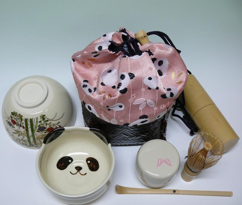 【茶道具】 パンダ野点篭