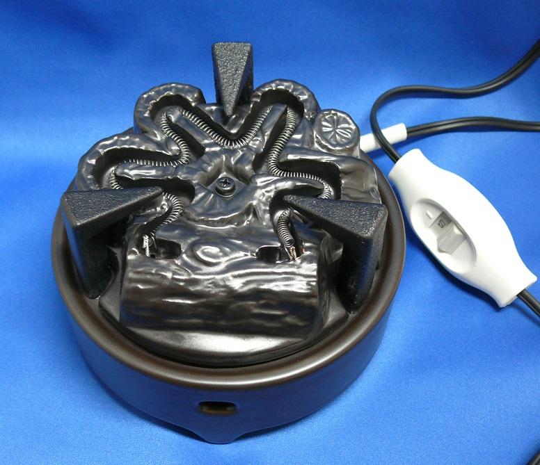 【茶道具】ヤマキ電気炭「嬉楽」五徳あり風炉用炭型ヒーター500w