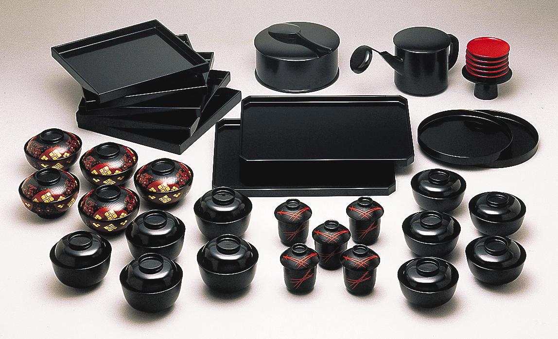【茶道具】懐石道具一式(5客)合成樹脂