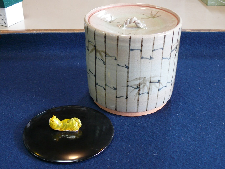 束ね竹水指 香舟作 (木箱)