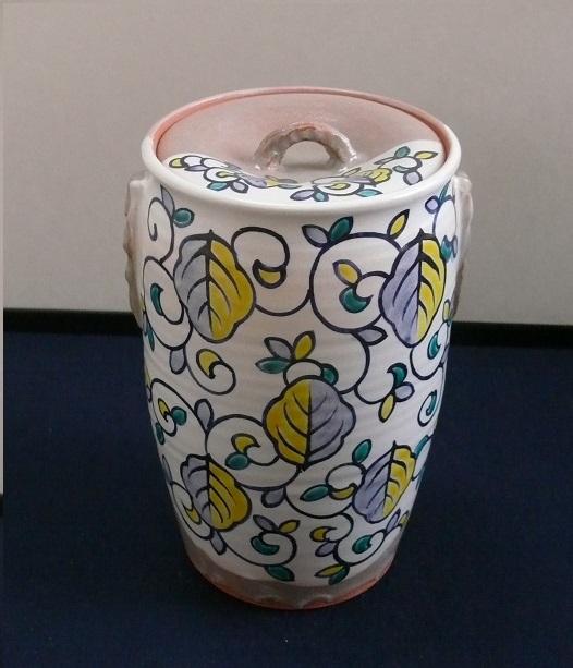 細水指 色絵オランダ 清和窯作 (紙箱)