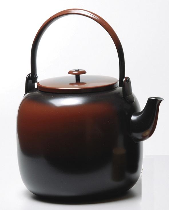 【茶道具】利休型 腰黒薬罐口蓋付 一政堂(桐箱)