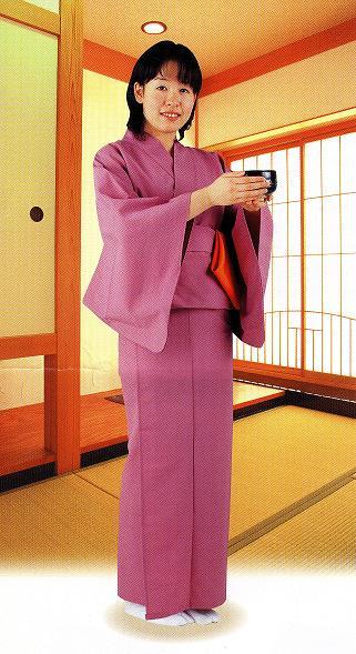 【茶道具特別価格】お稽古着 着物2部式タイプ フリーサイズ