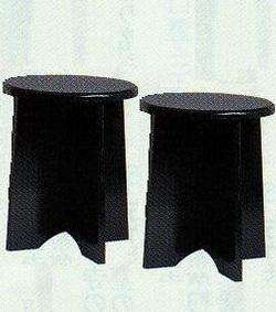 【茶道具 特別価格】裏千家用金具付円椅2客中村宗悦作