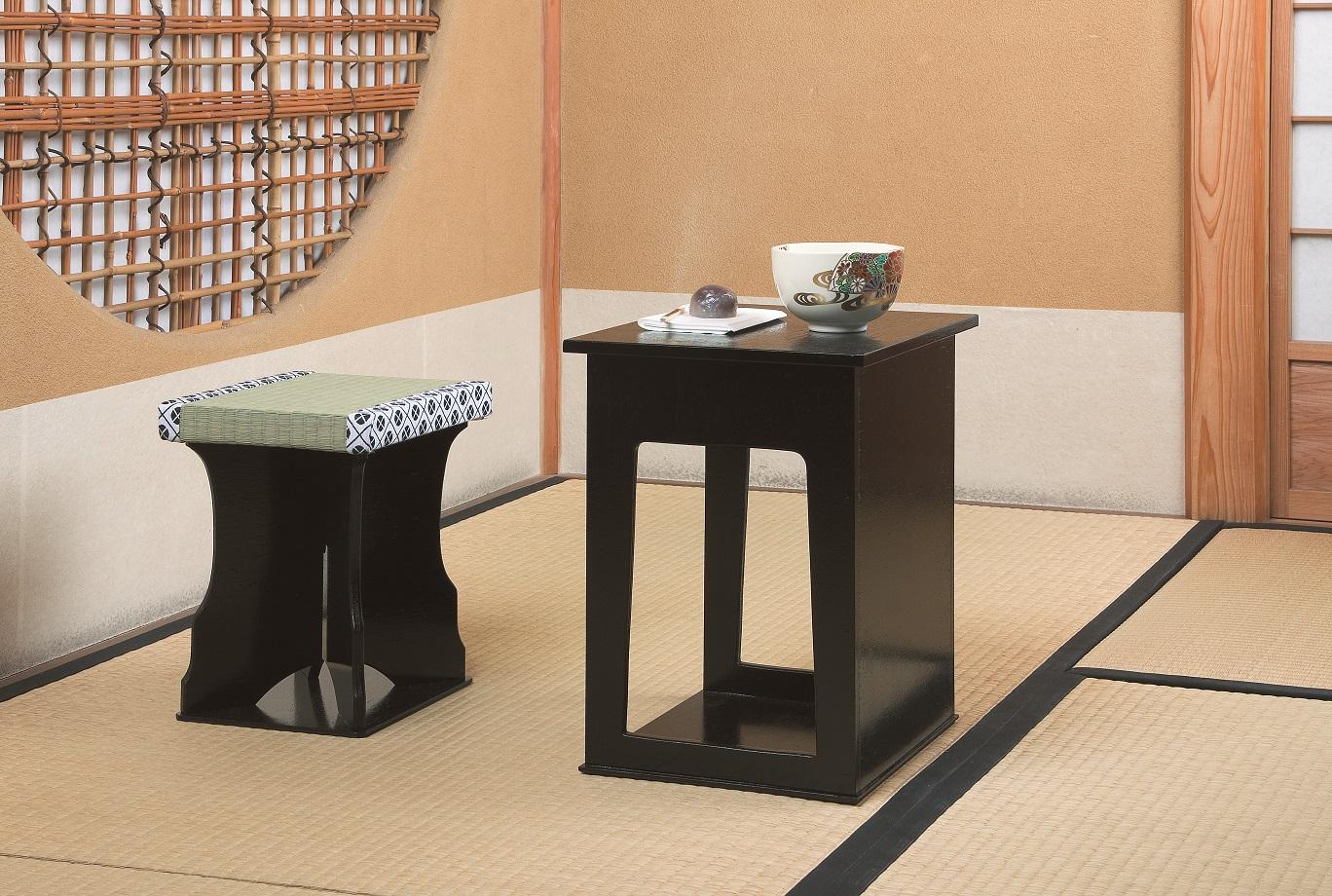 【茶道具】近藤さんのちょっと椅子黒掻合塗紙箱