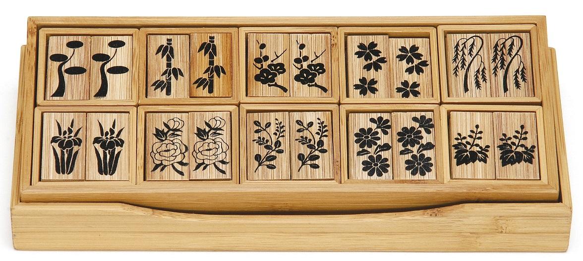 【茶道具】十種香札 煤竹 竹篤作(化粧箱)