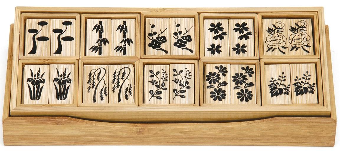 【茶道具】十種香札 白竹 上 竹憲作(化粧箱)