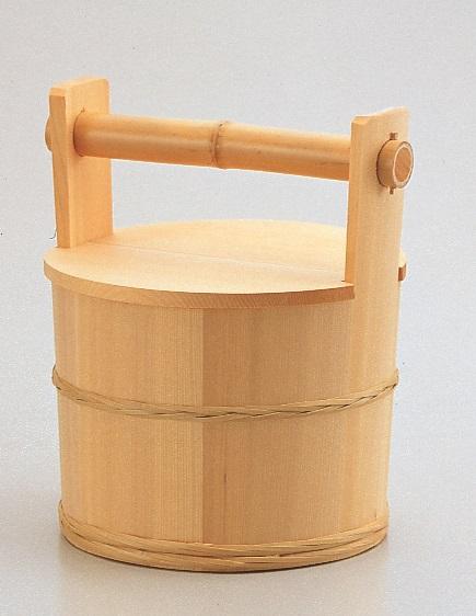 【茶道具】水張桶 円二作化粧箱