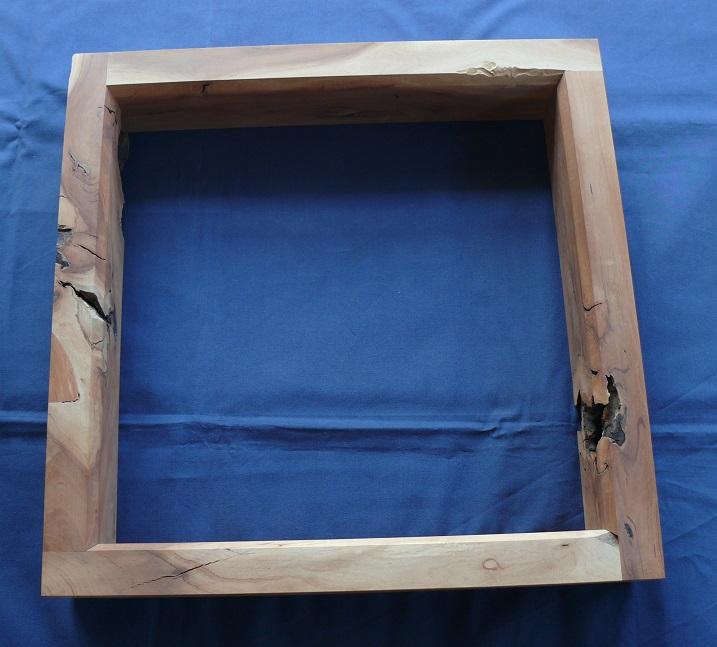 【茶道具】炉縁 老梅紙箱