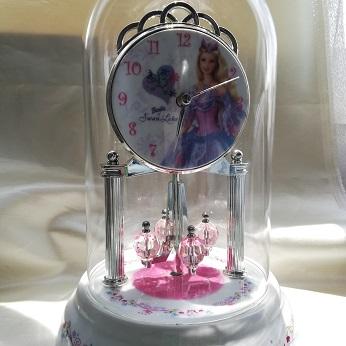 バービー 白鳥の湖 Anniversary 陶器時計 バレエ雑貨 プレゼント  Barbie 時計 バレリーナ時計バレリーナ雑貨