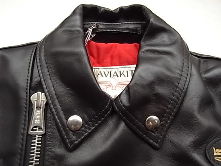 """Lewis Leathers (루이스 レザース) HORSE HIDE LEATHER """"Tight Fit"""" Double Rider 's Jacket의 ' HORSE BLACK."""