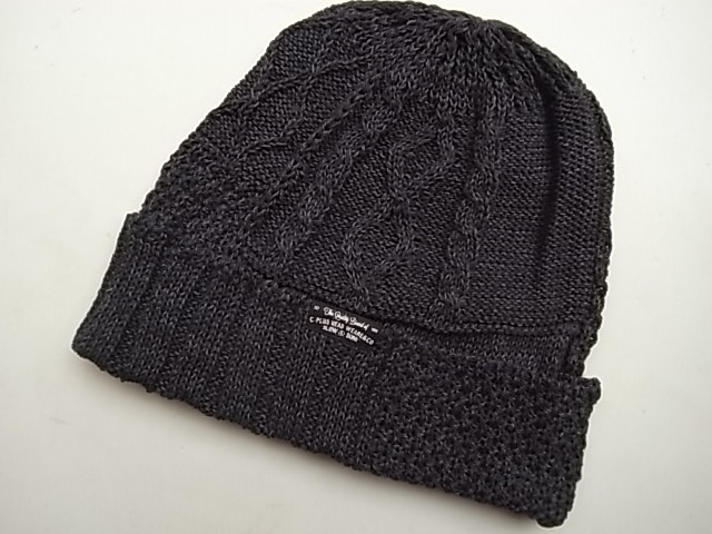 C-PLUS HEAD WEARS【CUFF KNIT CAP/INDIGO PATCH WORK】★CHACOAL☆