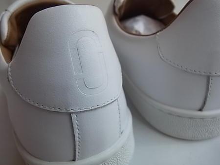 "MARC JACOBS(标记雅各布)SOLID NAPPA CLASSIC""不徐比赛""全部皮革女式无袖内衣开运动鞋☆WHITE☆"