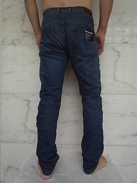 """NeIL BarreTT (Neil Barrett) STRETCH DENIM """"vintage wash"""" biker Jeans ★"""