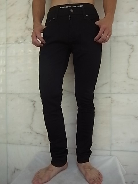 "Nudie Jeans(ヌーディー ジーンズ)【TIGHT TERRY】""SUPER TIGHT ANTI FIT TILTED WAIST""""DEEP BLACK""ストレッチ混スリムスキニー""BLACK"