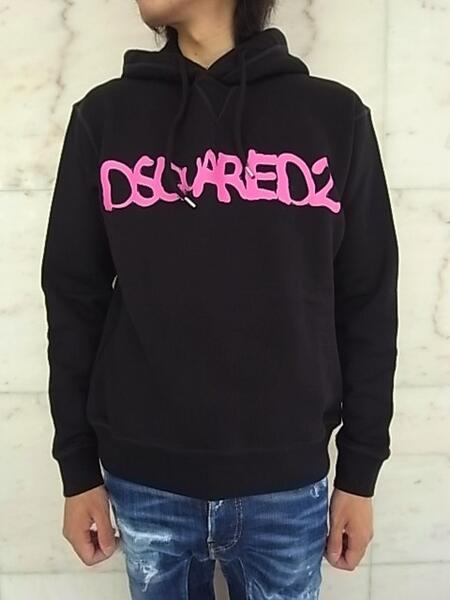 """2021-22 F W COLLECTION 毎日続々入荷 DSQUARED2 ディースクエアード D2 HOODIE """"COOL COOL 輸入 BLACK FIT""""""""DSQUARED2"""