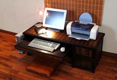■ 아시안 스타일 대나무 가구 컴퓨터 책상 (낮은 테이블 타입) 43379