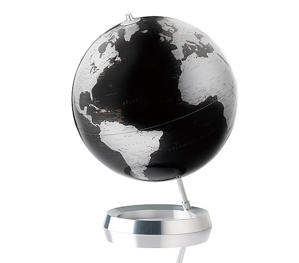 地球儀 アトモスフィア VISION メタリックブラック 【 ATM05SI 】 インテリア地球儀 グローブ ATMOSPHERE