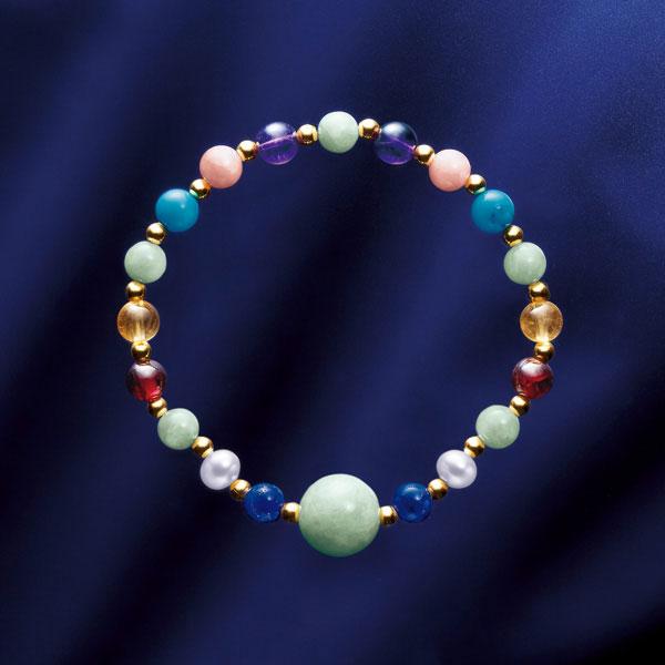 本ヒスイ 宝飾品 ブレスレット 東洋の神秘 本翡翠と七宝石の宝飾ブレスレット IEI オリジナルコレクション インペリアルエンタープライズ