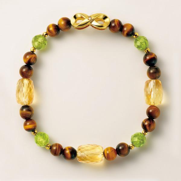 『幸せの絆』天然宝石とダイヤモンドの宝飾ブレスレット IEI オリジナルコレクション インペリアルエンタープライズ